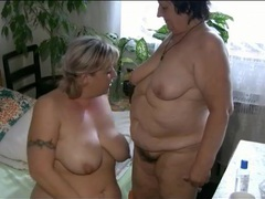 Bbw in pigtails has lesbian sex with mature videos