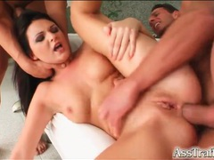 Dick up the asshole of slender brunette movies