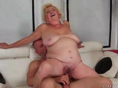 Chubby old blonde fucked in her fat pussy videos