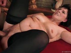 Old lady fucked by big younger cock videos