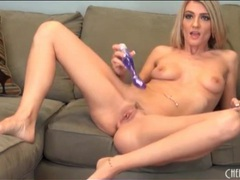 Purple dildo makes amanda tate a happy girl videos