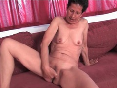 Granny fingers her wet bald pussy movies at relaxxx.net