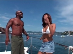 Bikini babe sucks black cock on a boat videos