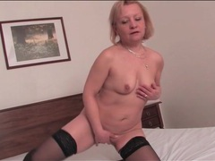 Blonde mature lustily masturbates her vagina movies at sgirls.net
