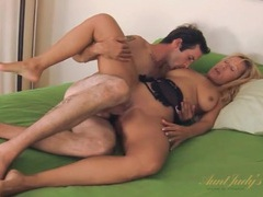 Milf sucks cock in 69 and gets laid videos