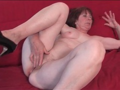 Sexy solo grandma masturbates her cunt movies at relaxxx.net