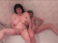 Old ladies soap up in the shower videos