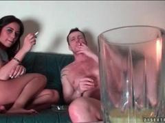 Couple smokes and has hot bondage sex videos