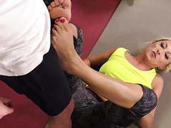 Delectable milf fucks a fitness instructor and swallows cum movies at kilogirls.com