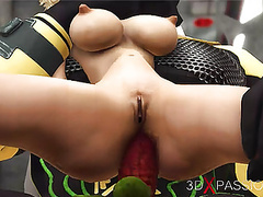 Blonde fucked hard by sci-fi anubis in the dominator pyramid movies at kilopills.com