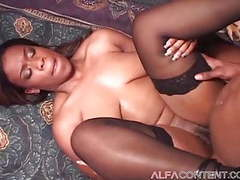 Busty ebony babe loves her mans bbc movies