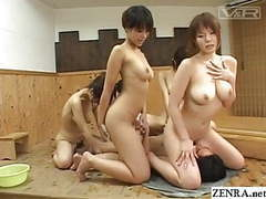 Japanese harem sex party in bathhouse subtitles movies