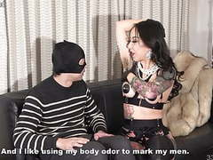 Japanese femdom youko armpit sniffing and slave drinking her movies at kilovideos.com