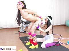 Fitness rooms asian japanese lesbian fucking in retro gym movies at kilovideos.com