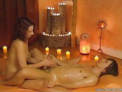 Sensual handjob massage tutorial education movies at freekiloporn.com