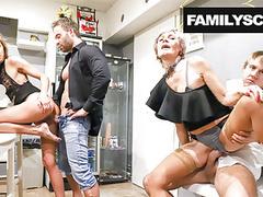 Horny family visits swingers club movies at kilomatures.com