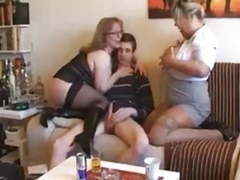 Skinny guy with two milf movies at freekiloclips.com