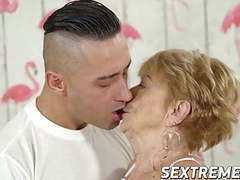 Horny granny chewing a cock before banging it very savagely movies