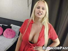 Angel wicky does some blowing in pov on cheating boyfriend movies at find-best-babes.com