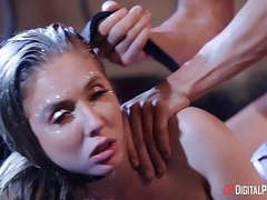 Lena paul get fucked by two dudes on club movies