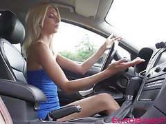 Wicked euro slut fucks hard with guy who repairs her car movies at freekilomovies.com