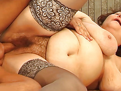 Hairy chubby mom enjoys her toyboy movies at freekilomovies.com