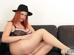 Busty redhead alexsis faye play and destroys pantyhose movies at kilomatures.com