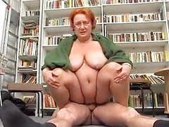 Redhead bbw mature librarian gets cock movies at freekilosex.com