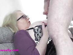 Granny sallys huge tits drenched in cum movies at freekiloclips.com