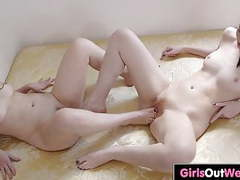 Horny lesbians enjoy pussy licking and rimming movies at find-best-babes.com