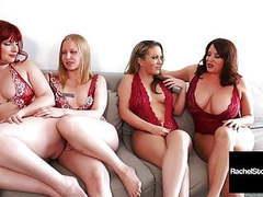 5 girl pussy orgy! rachel storms maggie green carmen v & ... videos