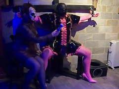 Flr femdom mistress milks her restrained sissy maid slave movies