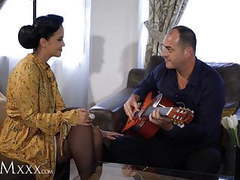 Momxxx guitar tutor gives housewife jennifer mendez hot fuck movies at kilogirls.com
