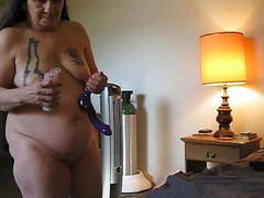 Feel dildo fucking my husband ass eating his ass & milking movies