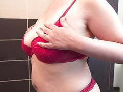 Watching curvy mom in shower movies at kilopills.com