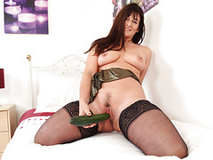 English milf lelani fucks her lovely fanny with a cucumber movies at kilopills.com