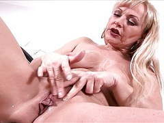 Mature whore sadie demonstrates sex toys in action movies