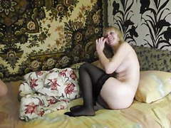 Blonde russian milf in stockings fuck at home movies at find-best-pussy.com