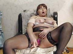A mature lady from moscow plays with an ass and a pussy on c tubes