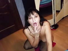 Russian mature mom suck her boy movies at freekilosex.com