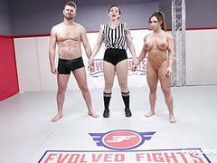 Brandi mae rough wrestling sex fight vs jack friday movies at freekilosex.com