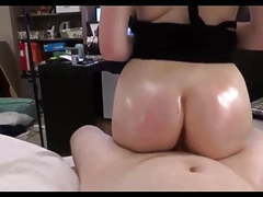 Oiled my wife's huge ass and fucked. real homemade porn movies at find-best-videos.com