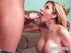 Milf blonde with demanding tits tubes