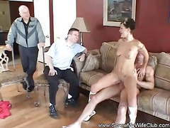 Threesome for swinger wife's birthday surprise videos