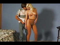 Pantyhose couple fucking in tan pantyhose movies