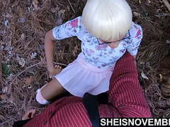 Sneaking away to fuck my wife daughter in forest missionary tubes