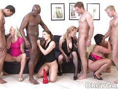 Porn actresses are pros at blowjobs in this exciting orgy movies at freekilosex.com