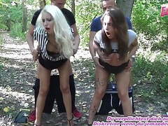 Outdoor groupsex with german teen tourist sluts in forest movies