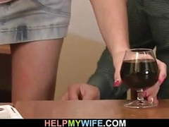 Husband watching his young wife sucks another cock movies at freekiloclips.com