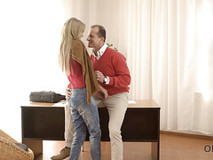 Vip4k. dirty-minded daddy invites blonde angel ellen jess movies at find-best-pussy.com